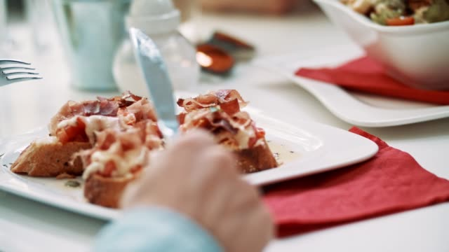 Rustic sandwiches on the plate video