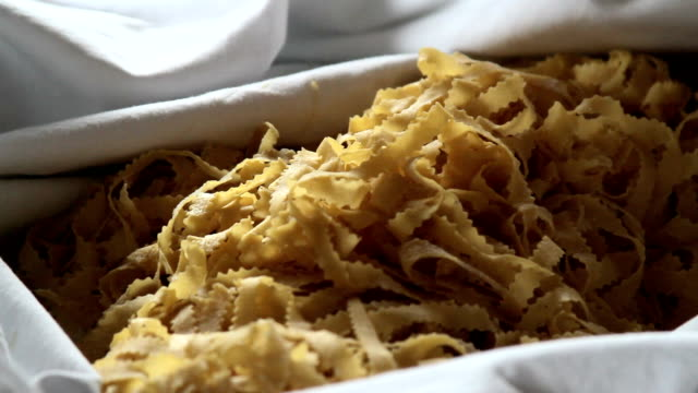 Rustic shot home made pasta video