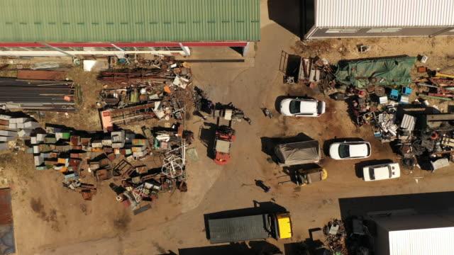 Rusty junk on the metal junkyard