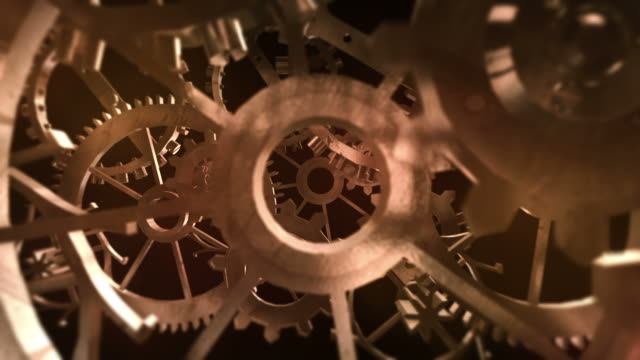 3D Rusty Machine Gears - Loop
