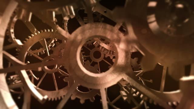 3D Rusty Machine Gears - Loop
