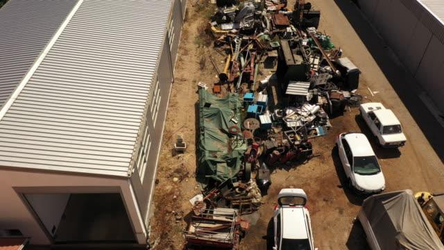 Rusty metal junkyard
