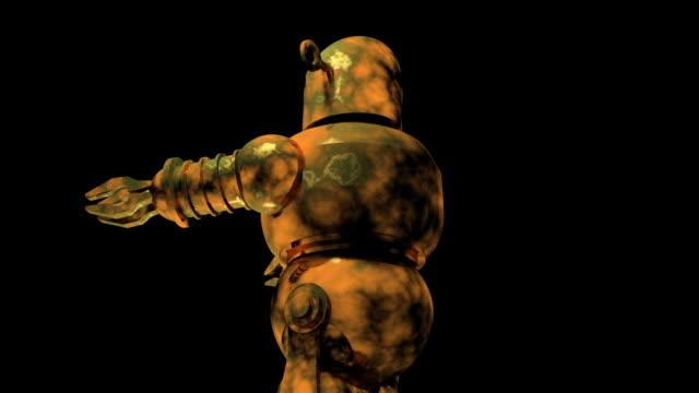 ラスティ・ロボット - 錆びている点の映像素材/bロール