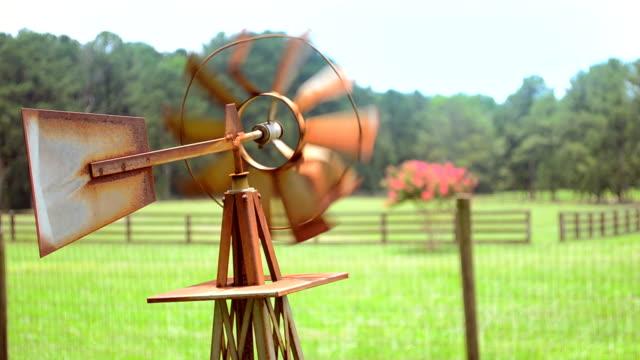 Rusty Weather Vane on a Farm video