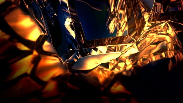 сrystal rotation. loop background - ice on fire video stock e b–roll
