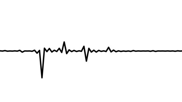 rythmic black audio frequency sound wave - attrezzatura per la musica video stock e b–roll
