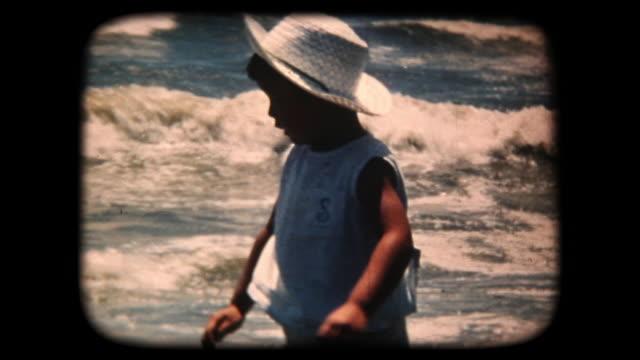 60's 8mm footage - Boy Splashing In the Sea