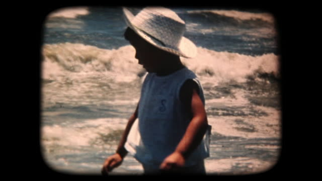 60's 8mm footage - Boy Splashing In the Sea video