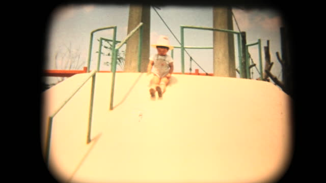 60's 8mm footage - having fun while sliding