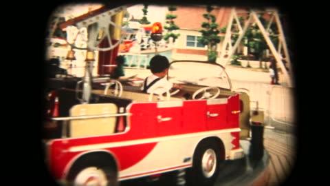 vidéos et rushes de séquences de 8 mm des années 60 - manège - vintage