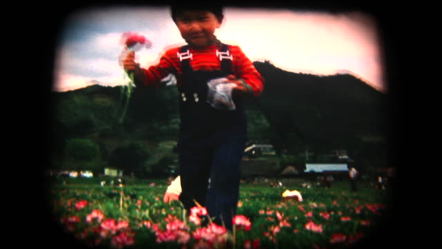 60's 8mm footage - picking flowers