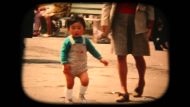 60's 8mm footage - walking in the park