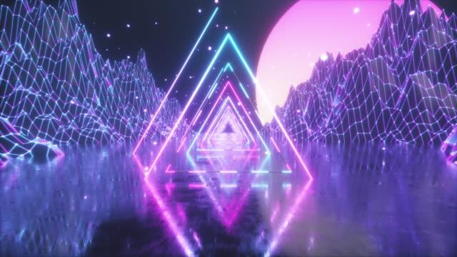 80's Abstract retro futuristic background video