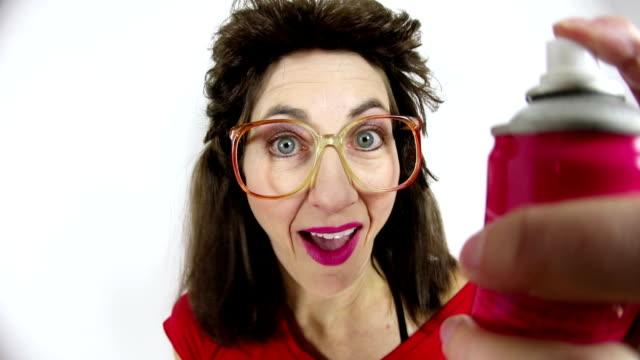 80's Big Hairspray video