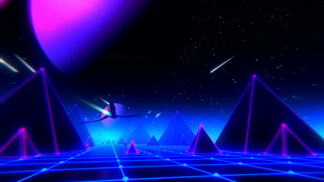 Años 80 VJ fantasía día y noche serie - vídeo