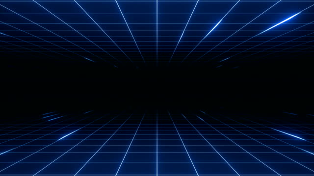 VJ 80's Synthwave Style Retro-futuristic 80's synthwave grid background. Perfectly looped opener animation. laser stock videos & royalty-free footage