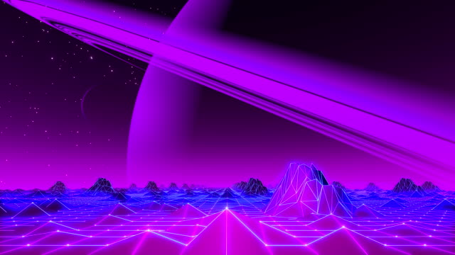 80's VJ Landscape Day and Night Series video