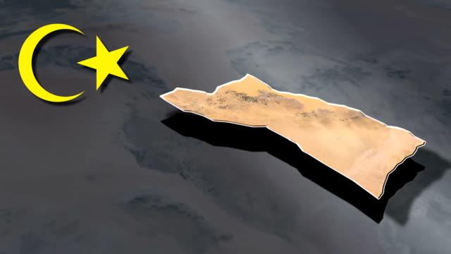 sabha z animacją herbu mapy - insygnia filmów i materiałów b-roll