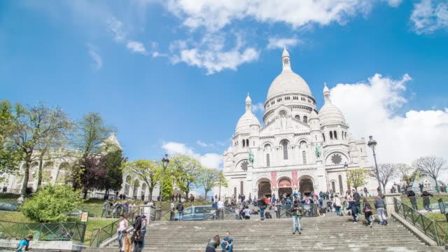sacre coeur cathedral - basilika katedral bildbanksvideor och videomaterial från bakom kulisserna