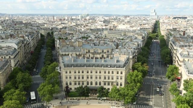 sacré-coeur antenn panorama - montmatre utsikt bildbanksvideor och videomaterial från bakom kulisserna