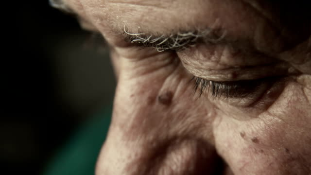sad and depressed old man looks: retired man, lonely man, depressed man very old man portrait with sad look on his eyes depression land feature stock videos & royalty-free footage