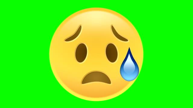 sad emoji - emoji video stock e b–roll