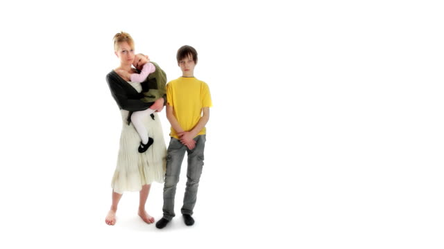 Sad family. Difficult situation. Expressing Negativity. video