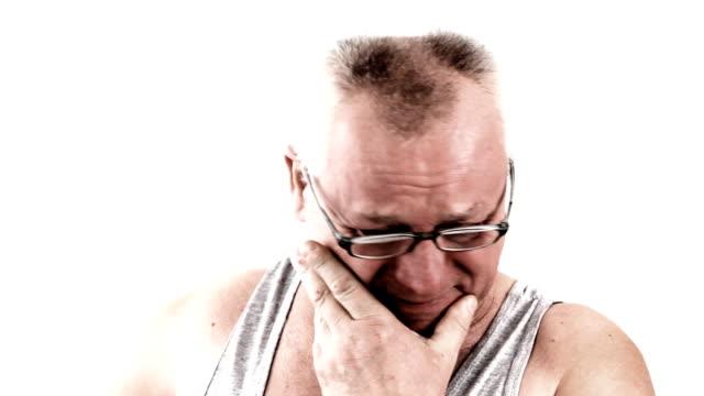 Sad man. Human despair. Depression. video