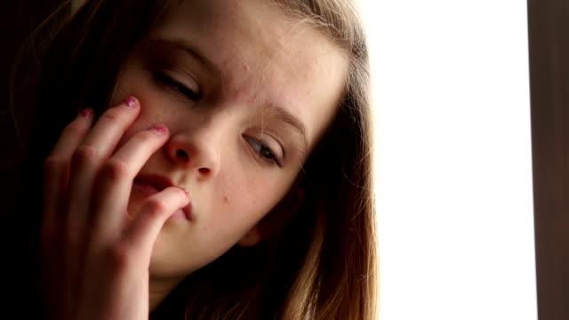 Sad teenager girl video