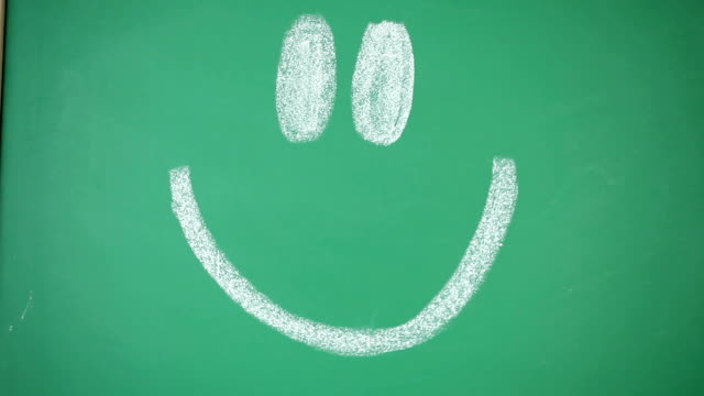 traurige frau hinter smiley-symbol. - smiley stock-videos und b-roll-filmmaterial