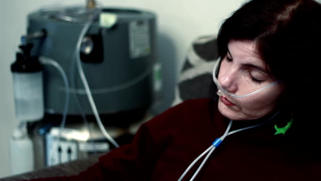 sad woman with lung cancer video