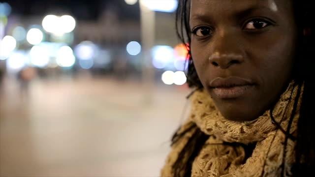 Sad young woman Sad young woman black woman stock videos & royalty-free footage