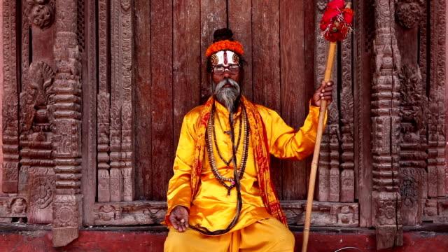 sadhu durbar square - stamm stock-videos und b-roll-filmmaterial