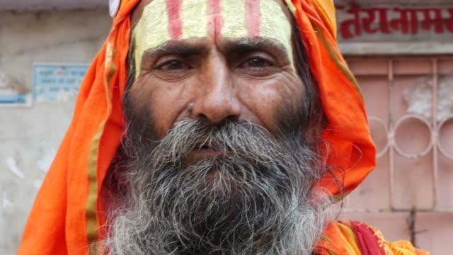 Sadhu in Pushkar, India video