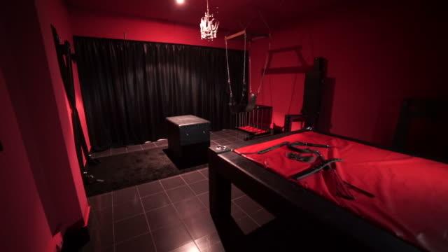 Sadomasochism room Sadomasochism room domination stock videos & royalty-free footage