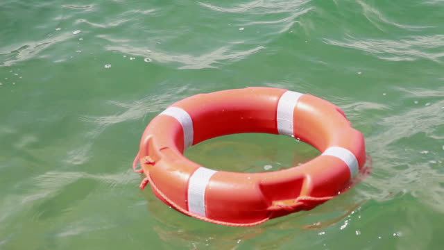 A safe buoy floating in the water video
