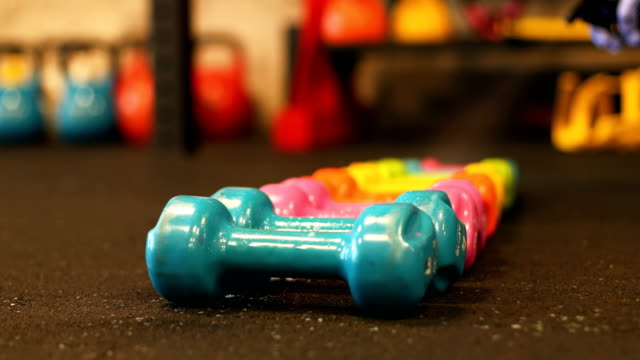 safely storing cleaned weights - weights stock videos & royalty-free footage