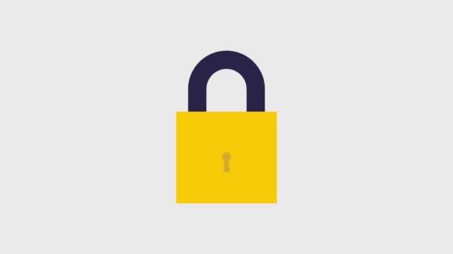 safety lås ikoner - lås bildbanksvideor och videomaterial från bakom kulisserna