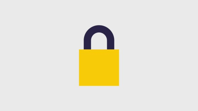 safety lock icons safety lock appears part by part icons animation design padlock stock videos & royalty-free footage