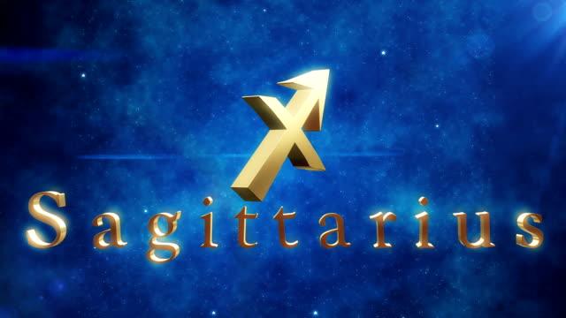 Sagittarius (Zodiac Air Signs) | Loopable video