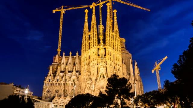 Sagrada Familia bei Sonnenuntergang, Zeitraffer – Video