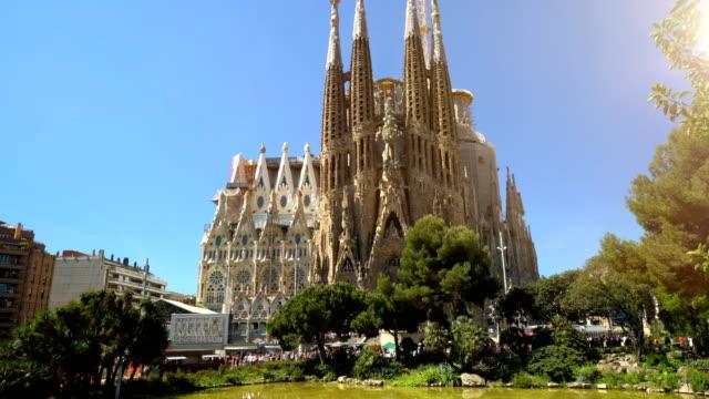 Sagrada Familia in Barcelona, without cranes video