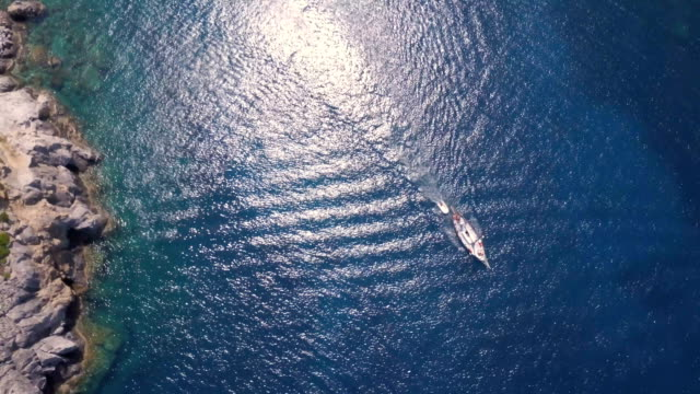 Sailboat From Above Sailboat from above. mast sailing stock videos & royalty-free footage