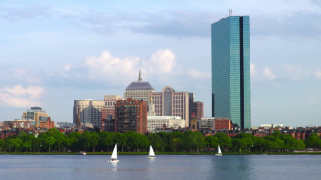 Sailing along the Charles River in Boston video