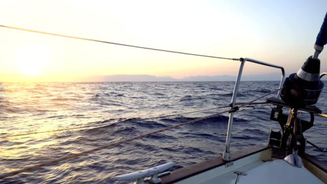 Sailing at morning