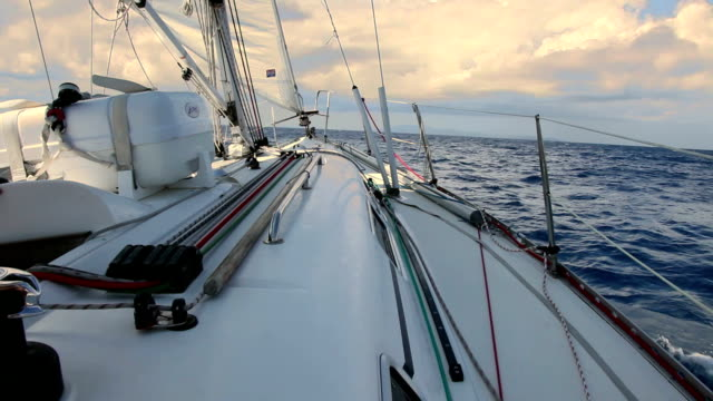 Sailing at wind video