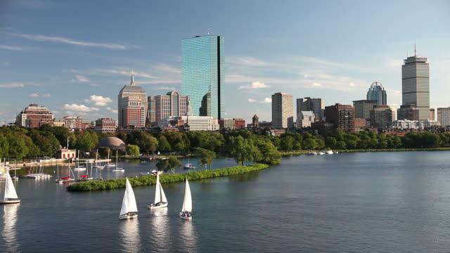sailing in boston - massachusetts bildbanksvideor och videomaterial från bakom kulisserna