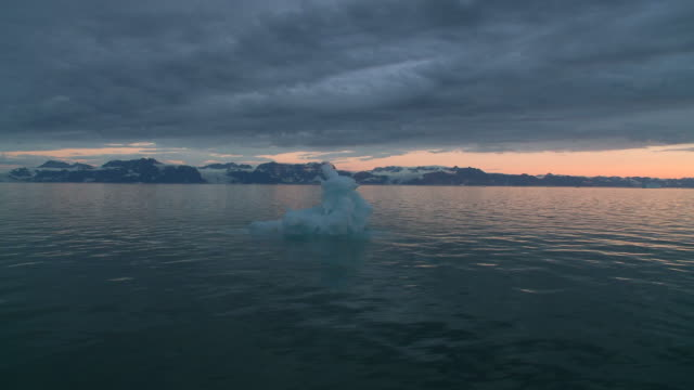 Sailing in iceberg landscape Greenland video