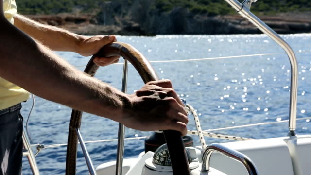 Sailing - Man at rudder video
