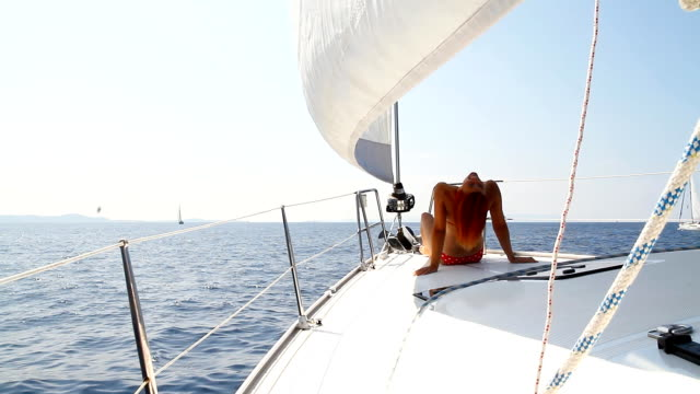 Sailing on the sea video